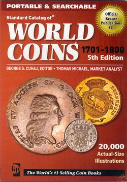 DVD, World Coins 1701-1800 (Krause publ., 5th ed.)